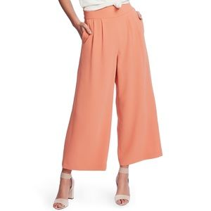 1.STATE | wide leg crepe trousers